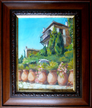 St. Paul de Vance - jars-2,  oil-painting