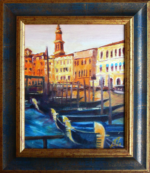 Venice - wharf, oil-painting