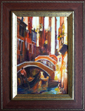 Bridges of Venice, oil-painting
